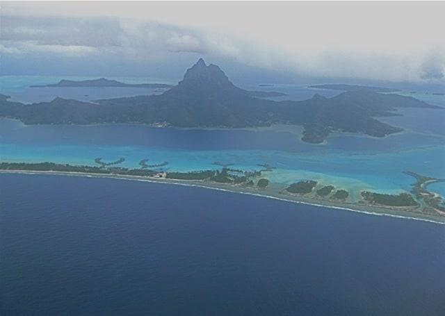 Plane views: Bora Bora