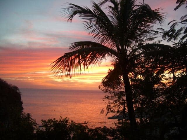 A Saint Lucia sunset