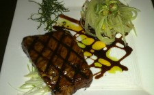 soy-glazed honey tuna steak photo