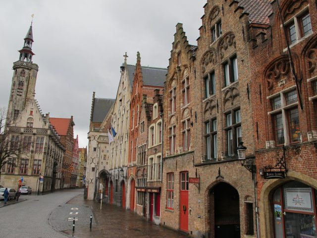 A quaint street in Bruges (Academie straat)
