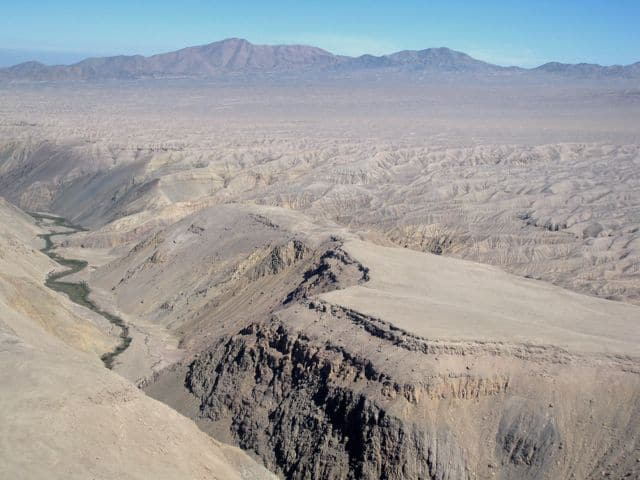 Plane views: Atacama desert