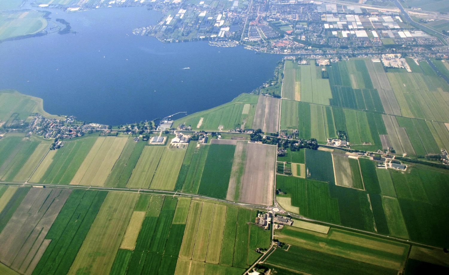holland-fields-aerial-view-europe-photo