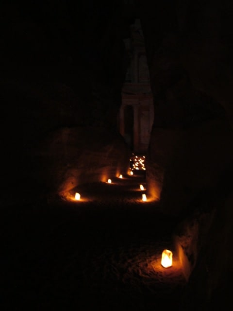 petra-night-siq-treasury-photo