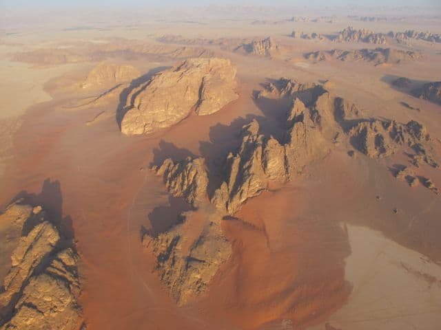 Experiencing the magic of Wadi Rum from above