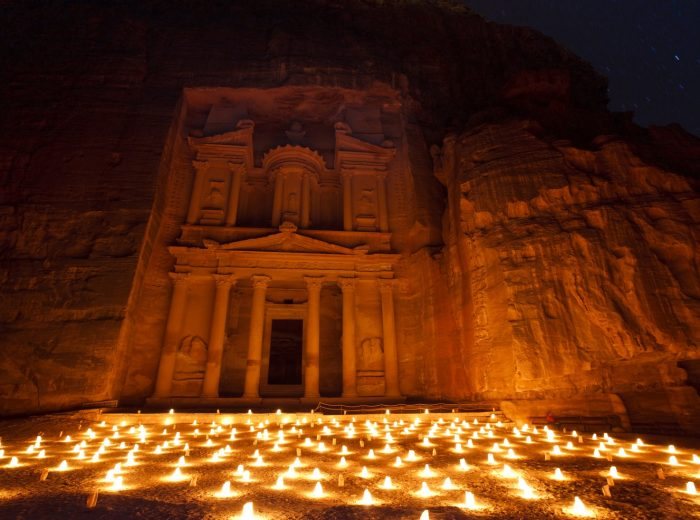 Enchanting Petra by night