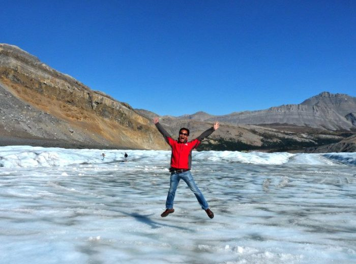 Fun and thrills on the Athabasca Glacier
