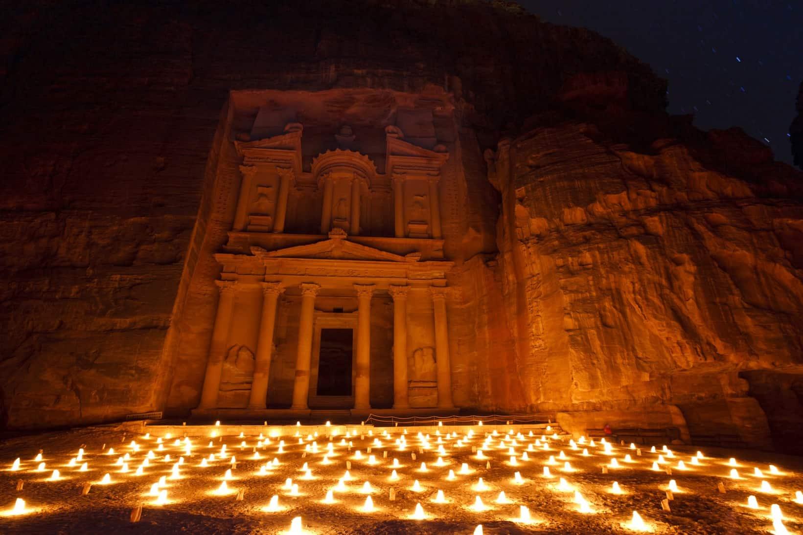 petra-treasury-night-candles-photo