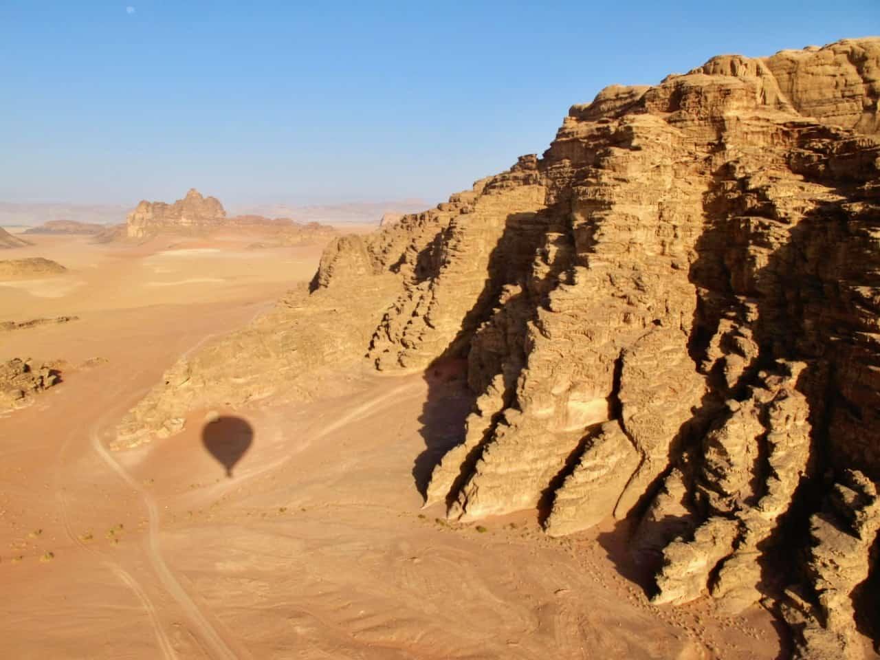 Hot-air balloon flight over Wadi Rum