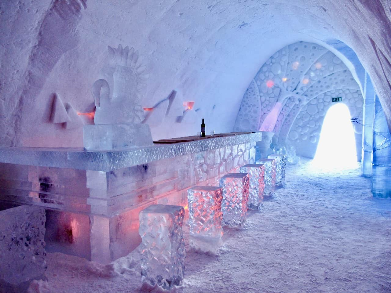 Sleeping in the Snow Hotel in Finnish Lapland