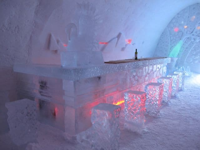 Inside the Snow Village