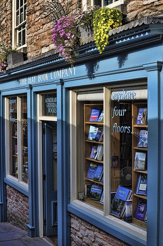 A typical English bookshop (image courtesy of Mooganic)