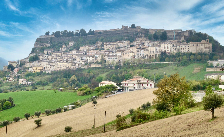 Civitella del Tronto walled town abruzzo photo