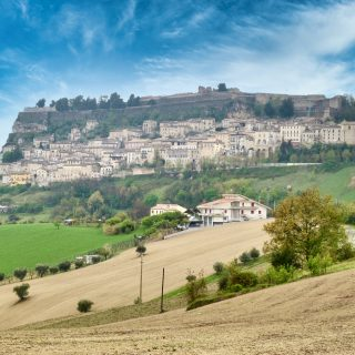 Civitella del Tronto walled town abruzzo photo