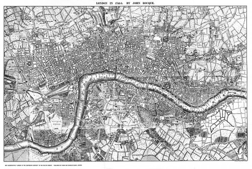 Rocque's map of London (image from Wikipedia)