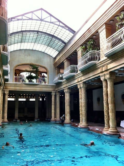 The Gellért Bath - main indoor pool.