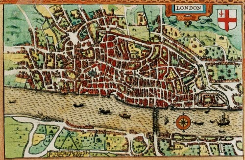 John Speed's map of London (image courtesy of Occidental College).