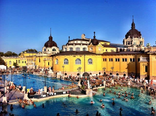 The Szechenyi Bath in Budapest.