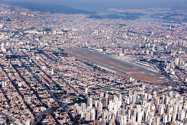 Aerial view of Congonhas Airport in Sao Paulo (image courtesy of Fernando Stankuns)