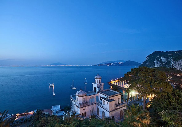 Views from Hotel Excelsior Parco in Capri.