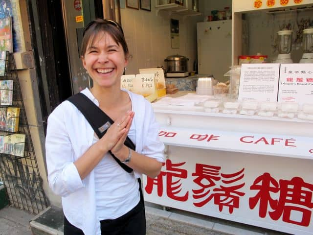 Our lovely guide Leah on the 'Flavours of the Main' food tour.