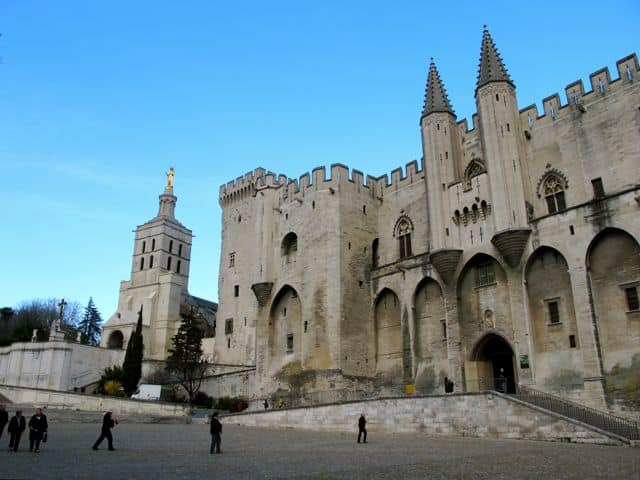 The Papal Palace in Avignon.