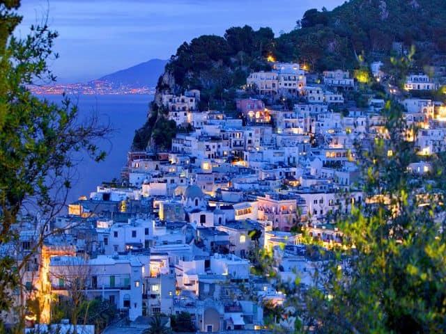 Evening view of Capri.