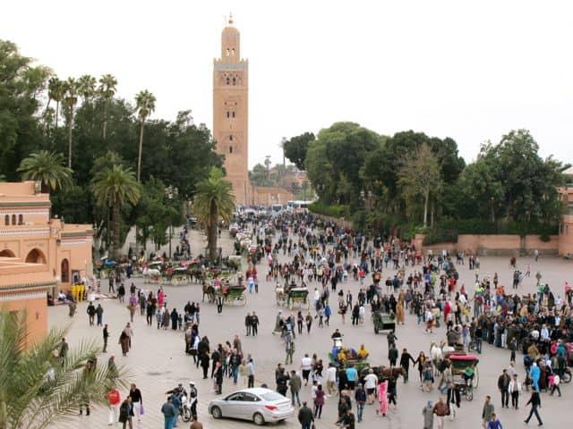 Jemaa el-Fna square in Marrakech
