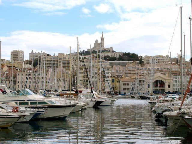 The historic Vieux Port in Marseille.