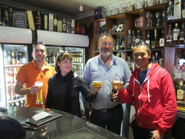 Bertrand, one of my readers, showed us his hometown and took us to one of his favourite watering holes!