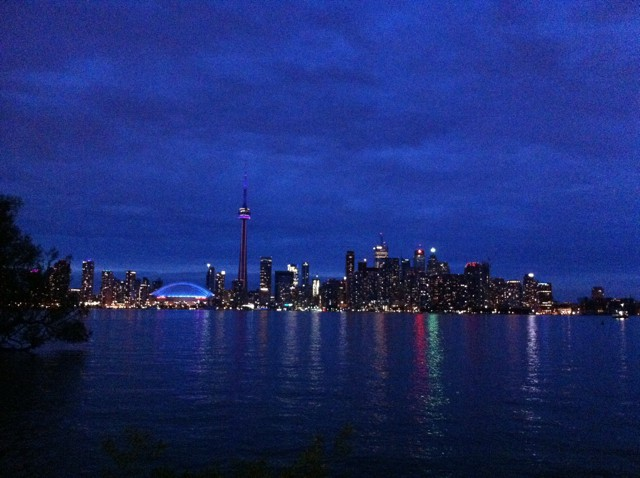 We partied into the night on Centre Island with this stunning view of the Toronto skyline.