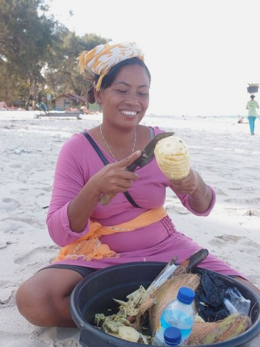 lady-on-beach-pineapple-photo