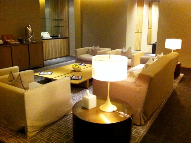 The lounge at the Spa.