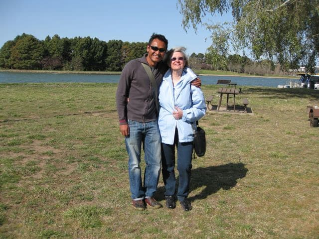 Visiting Renate in her hometown Canberra.