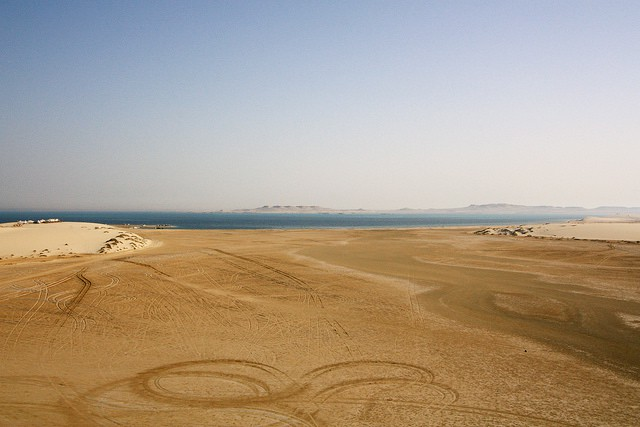 Khor al and the inland sea (image courtesy of Xavier Bouchevreau)