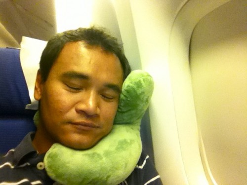 Me and my J-Pillow. Notice my happy face. ;-)
