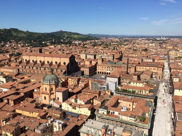 Panoramic views of Bologna