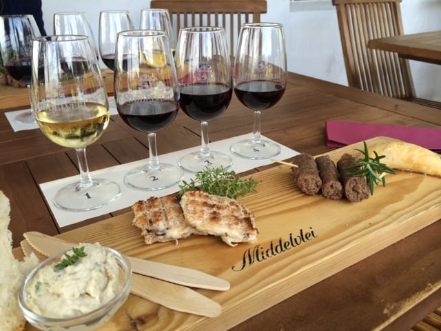 Wine-blending at Middelvlei Wines