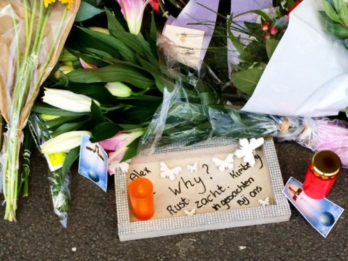 A note left at the MH17 memorial at Schiphol Airport.