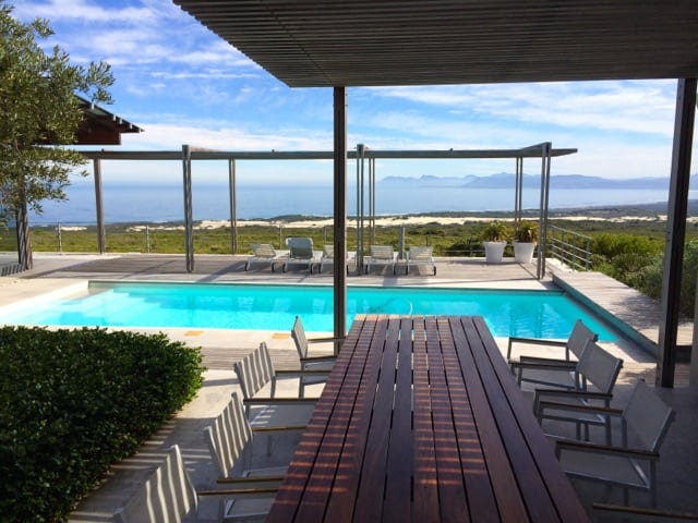 The Grootbos villa with its private pool and amazing views of the fynbos and Walker Bay.