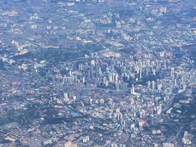 Plane views: Kuala Lumpur