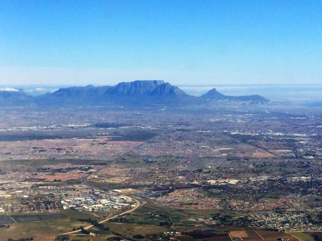 Plane views: Cape Town