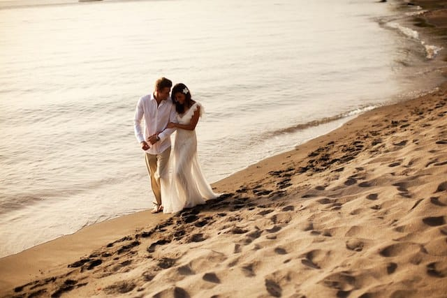 A romantic beach wedding perhaps?