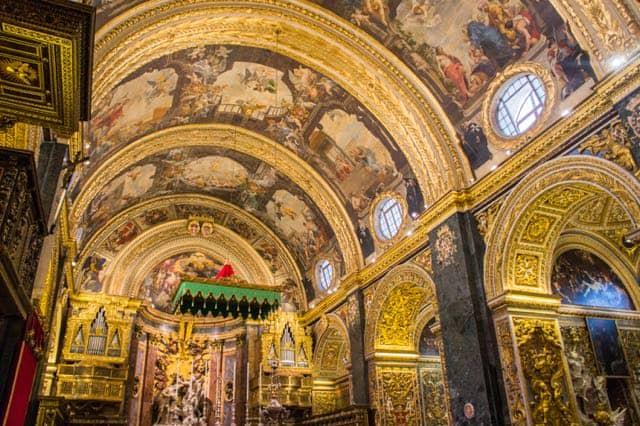 st john co cathedral valletta malta photo