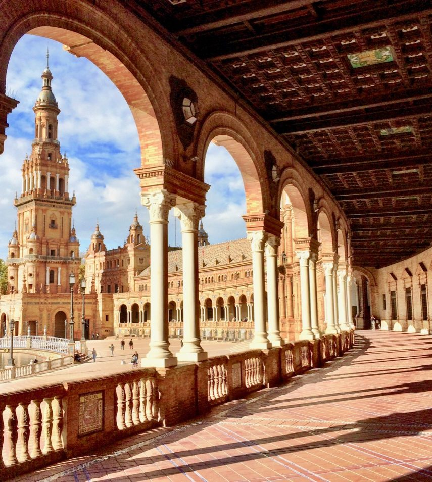 historic-architecture-sevilla-plaza-espana-photo