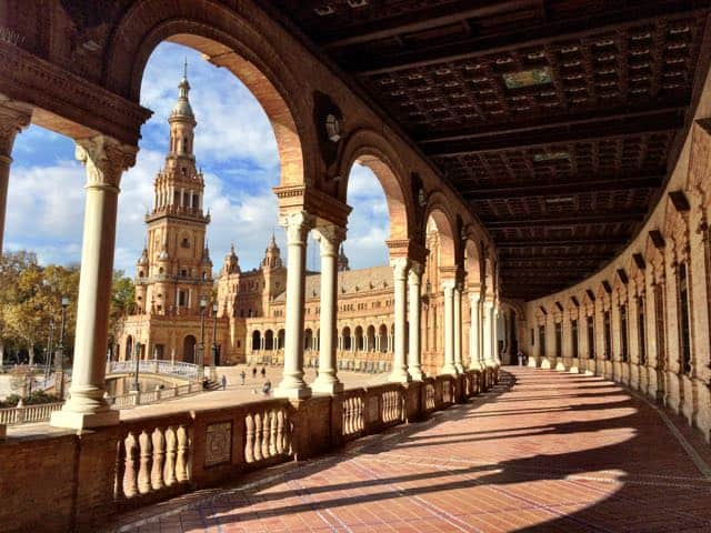 The historic architecture of Sevilla