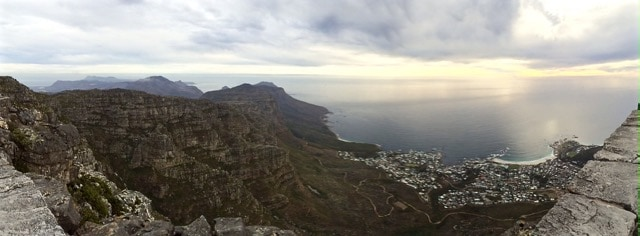 view from table mountain camps bay photo
