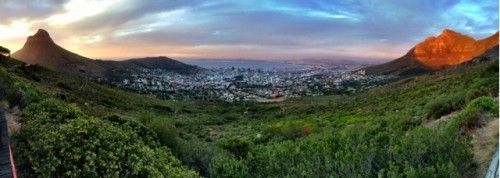 panoramic view of cape town