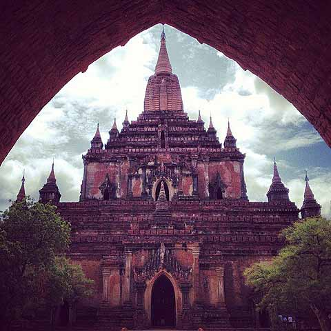 A temple in Bagan.