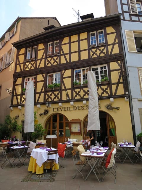 The Petit France neighbourhood is packed with lots of restaurants, cafés and wine bars.