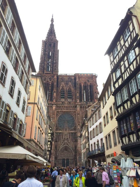 strasbourg-cathedral-street-photo